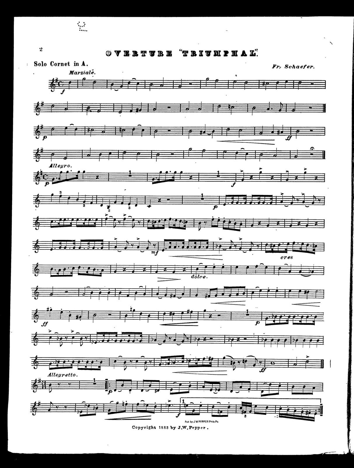"""Overture """"triumphal"""" [cornet]"""