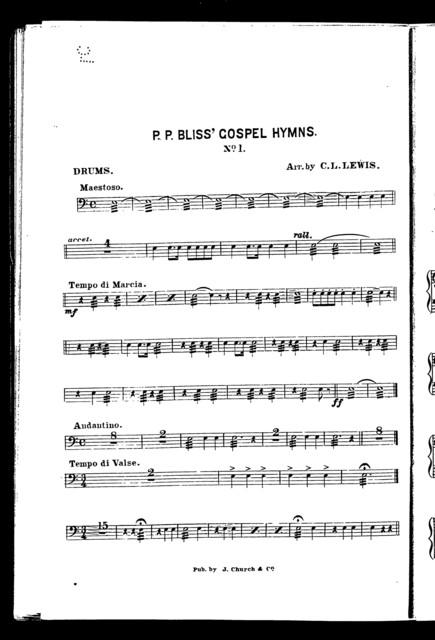 P. P. Bliss' gospel hymns, no. 1