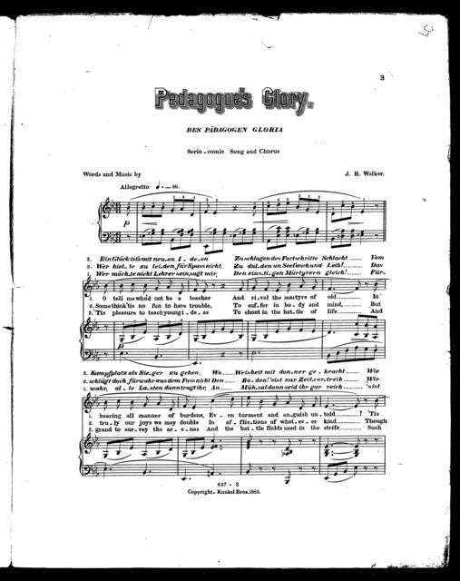 Pedagogue's glory - Das Pd̃agogen gloria