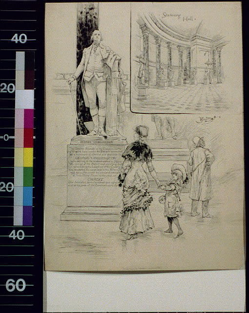 Plaster copy of Houdon's Washington