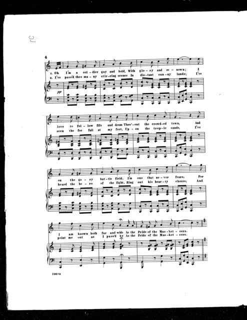 Pride of the musketeers, The; Military song