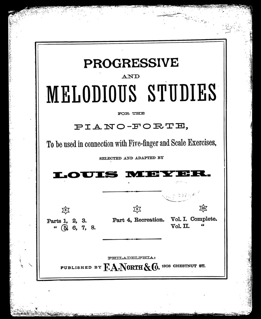 Progressive and melodious studies for the piano, book 5