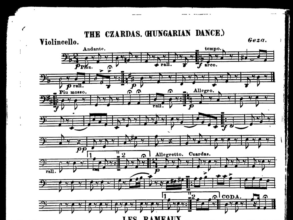 Rameaux, Les [and] Czardas, The [orchestra]