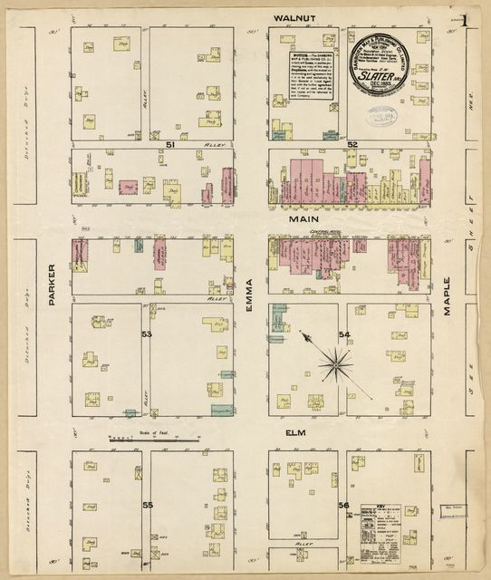 Sanborn Fire Insurance Map from Slater, Saline County, Missouri.