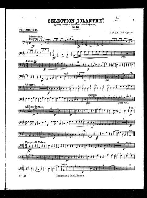 "Selection ""Iolanthe"", no. 10"