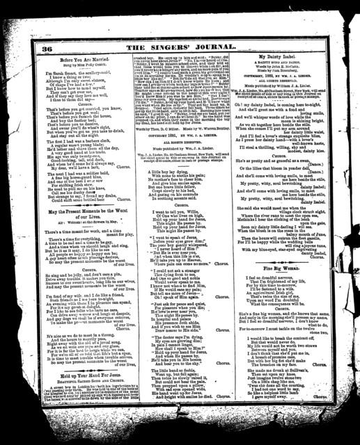Singers' journal, no. 205