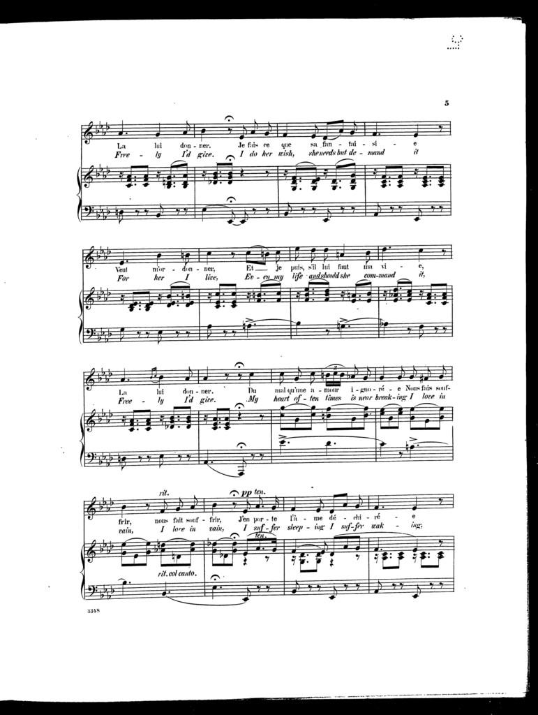 Song of Fortunio - Chanson de Fortunio [mezzo-sop. or baritone]