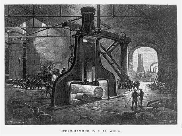 Steam-hammer in full work