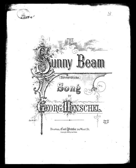Sunny beam, The - Sonnenblicke