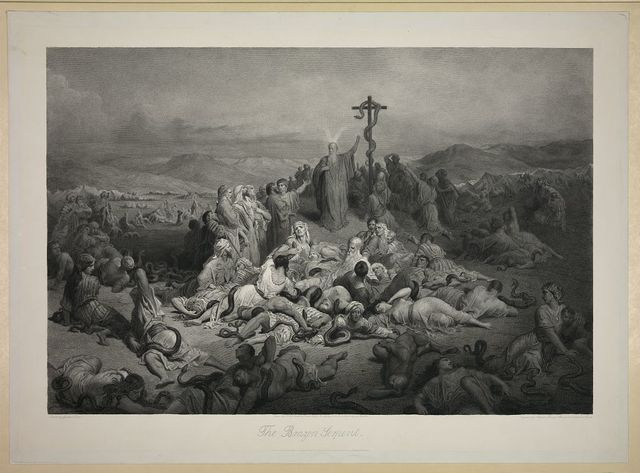 The brazen serpent / painted by Gustave Doré ; engraved by Alphonse François/Membre de la Institut de France.
