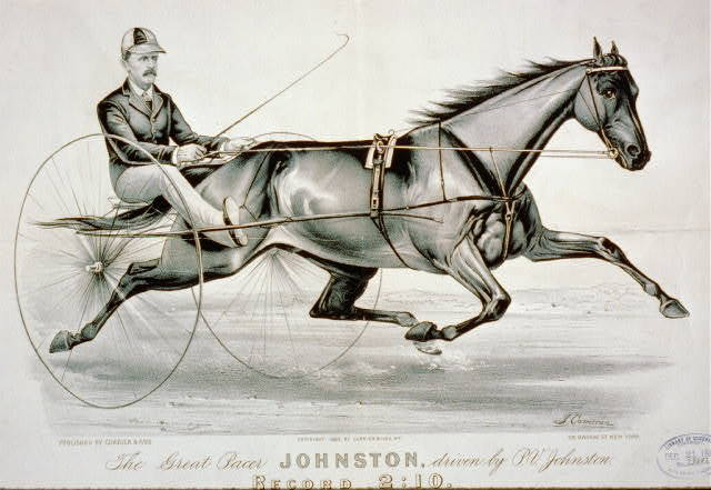 The great pacer Johnston, driven by P.V. Johnston