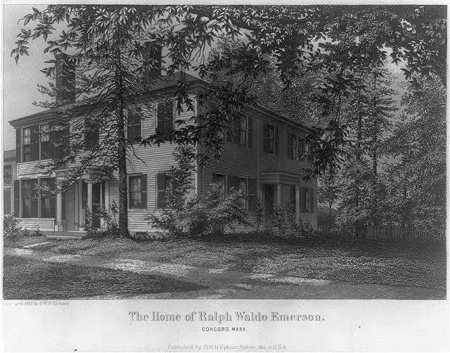 The Home of Ralph Waldo Emerson / published by O.W.H. Upham, Salem, Mass., U.S.A.