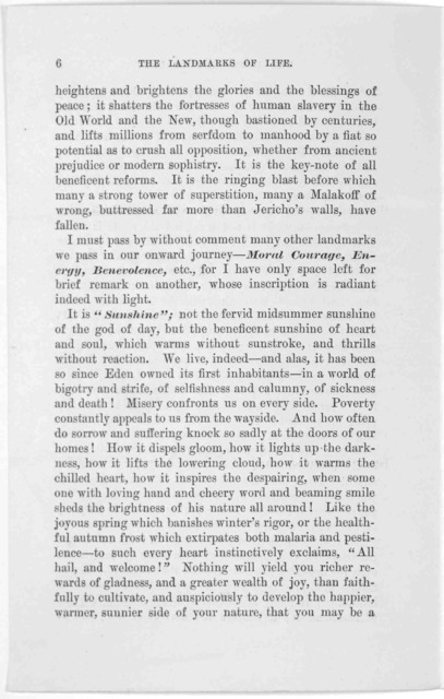 The landmarks of life; to be found on a New Year's day journey by Hon. Schuyler Colfax. New York, January 15th, 1883.