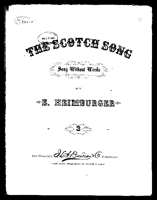 The  Scotch song