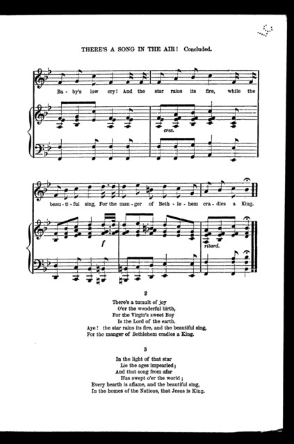 There's a song in the air! Christmas carol