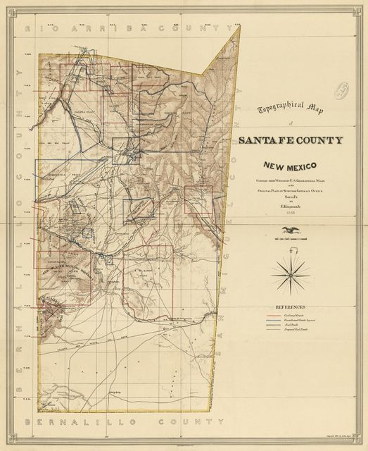 Topographical map of Santa Fe County, New Mexico /