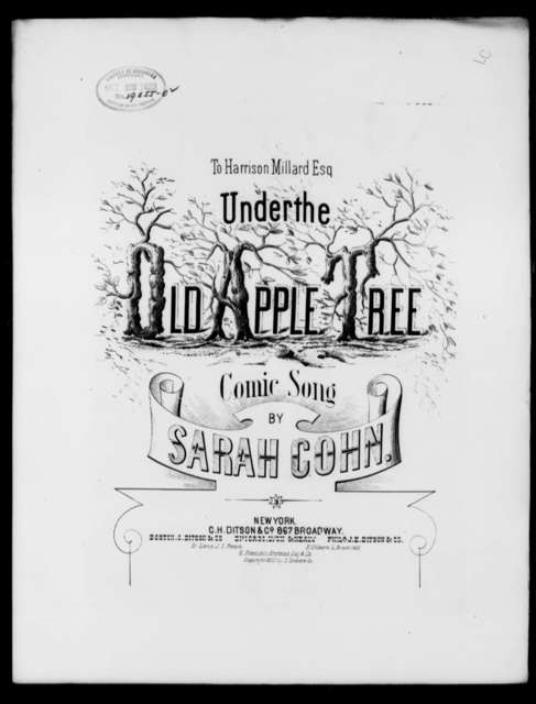 Under the old apple tree; Comic song