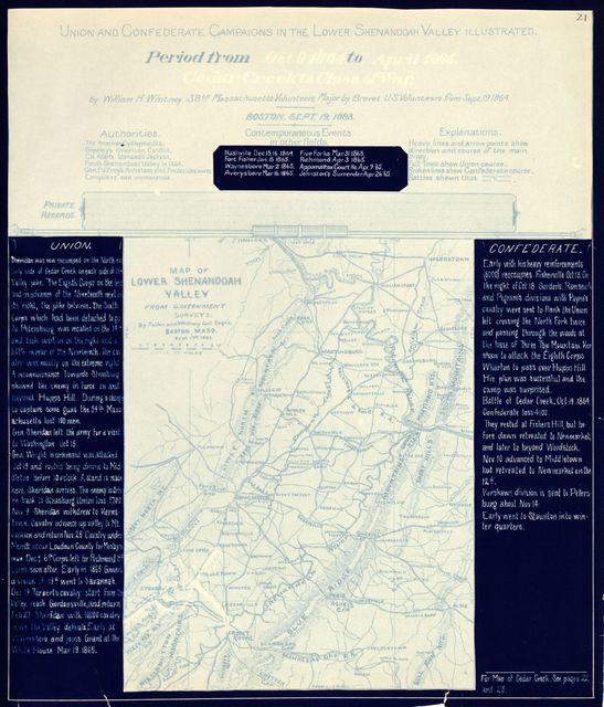 Union and Confederate campaigns in the lower Shenandoah Valley illustrated : twenty years after : at the first reunion of Sheridan's veterans on the fields and in the camps of the valley /
