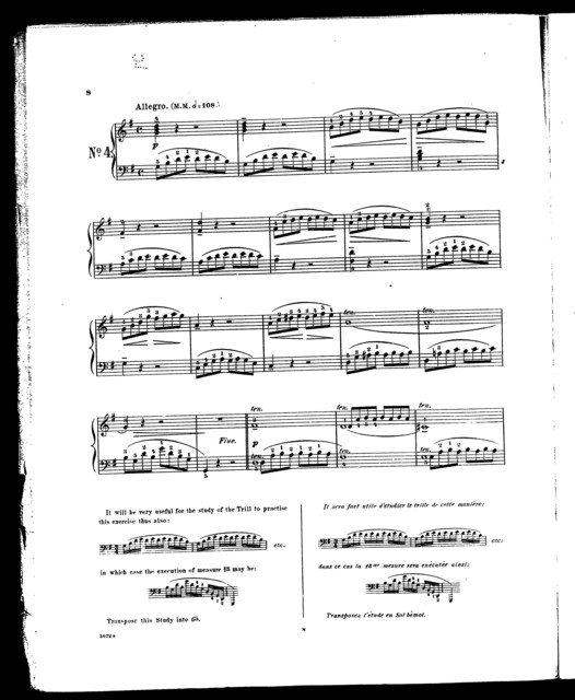50 selected studie for the pianoforte, part 1