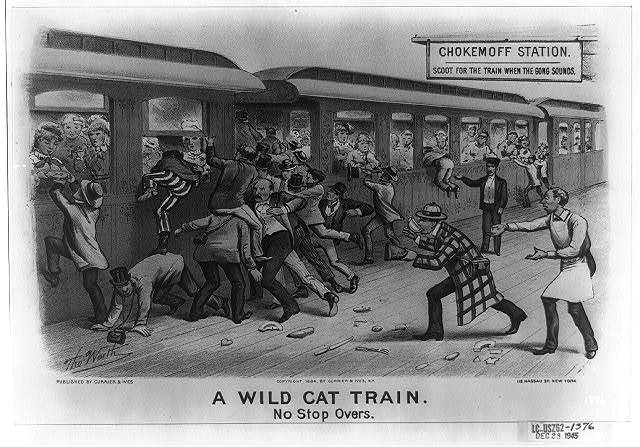A wild cat train: no stop overs / Tho. Worth.
