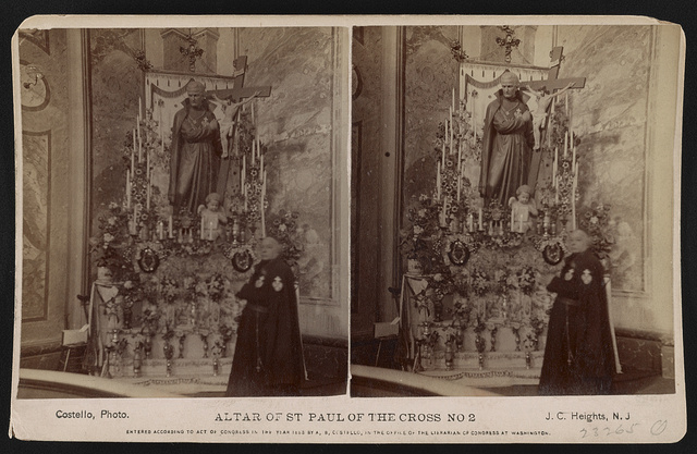 Altar of St. Paul of the Cross no. 2 St. Michaels, Passionist Church, at monastery, West Hoboken, N.J. / / Costello, photo, J.C. Heights, N.J.