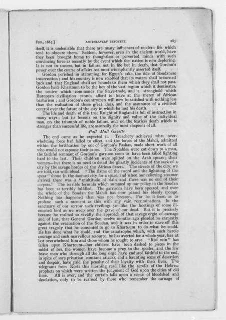 Anti-Slavery Reporter, Oct. 1884 - Feb. 1885