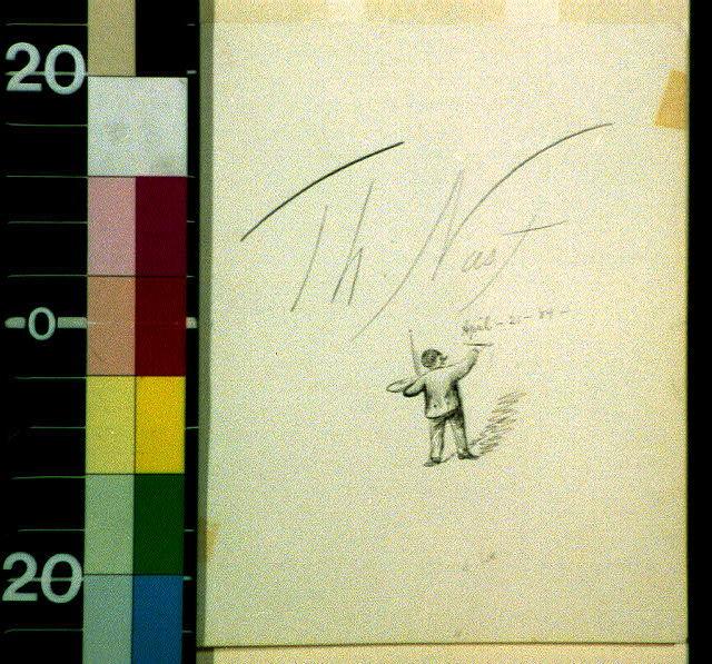 "[Artist signing ""Th. Nast, April 21, '84""]"