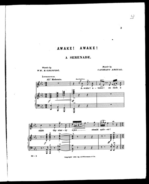 Awake! Awake! A Serenade