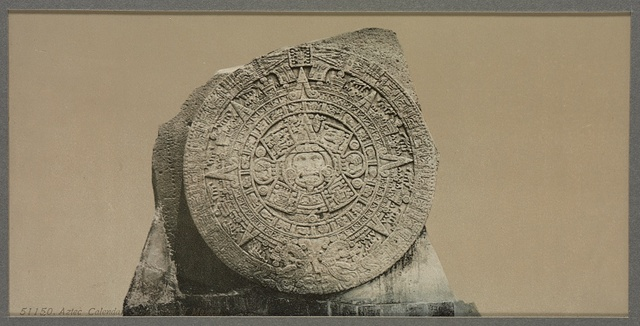 Aztec calendar stone, City of Mexico