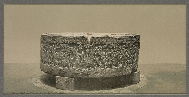 Aztec sacrificial stone, City of Mexico