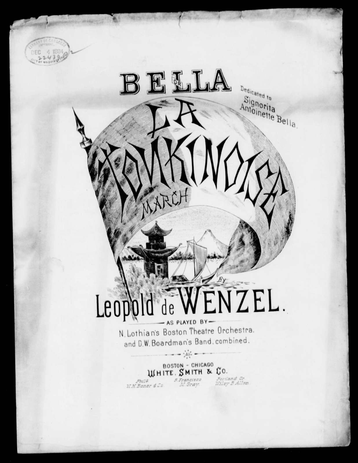 Bella march; or, Tonkinoise