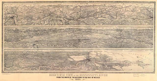 Bird's-eye view of the Mississippi River : from the mouth of the Missouri to the Gulf of Mexico, 1884 /