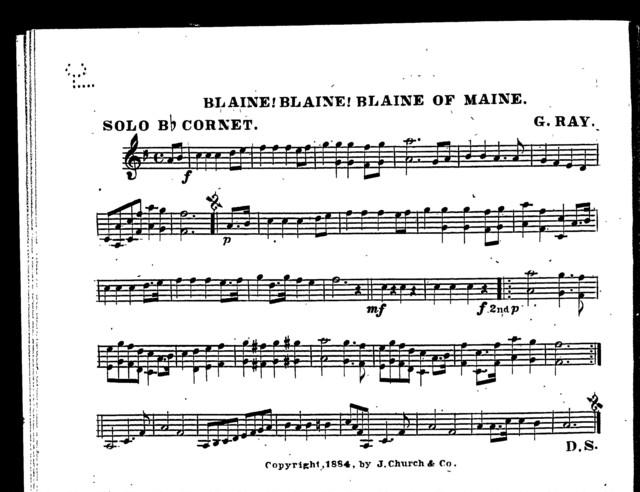 Blaine! Blaine! Blaine of Maine