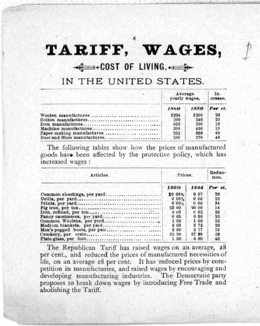 Campaign of 1884. Tract no. 20. Reasons why we should vote for Blaine and Logan! [s. 1., s. n., 1884].