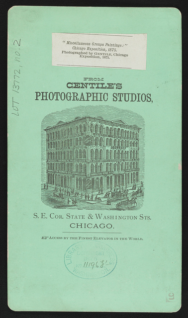 """Chicago Exposition Views, by Gentile """"Miscellaneous groups paintings"""" / / Photographed by Gentile."""