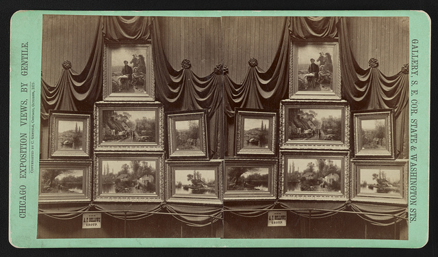 """Chicago Exposition Views, by Gentile """"The A.F. Bellows group"""" / / Photographed by Gentile."""