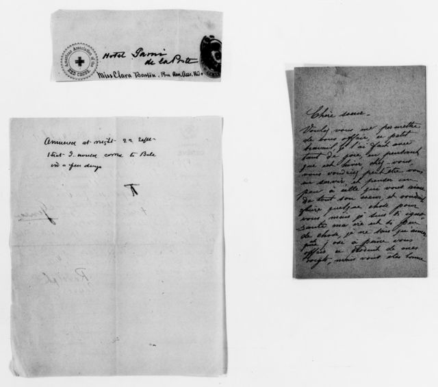 Clara Barton Papers: Red Cross File, 1863-1957; International Committee of the Red Cross, 1863-1919; Conferences; Third International Red Cross Conference, Geneva, Switzerland, Sept. 1884; Correspondence, 1884-1885