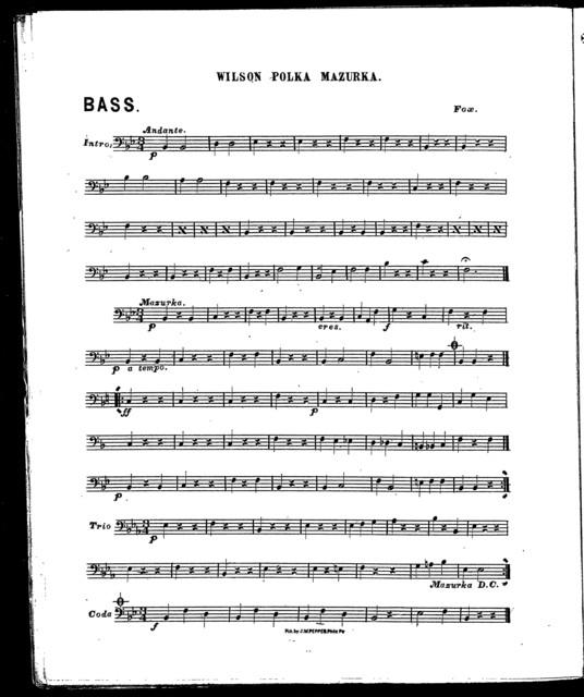 Contortion galop [and] Wilson polka mazurka