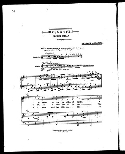 Coquette; Spanish ballad