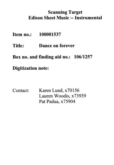 Dance on forever