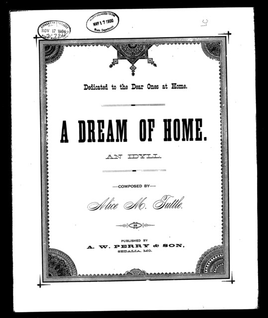Dream of home, The; An Idyll