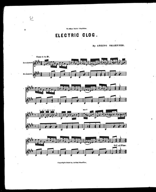 Electric clog [and] Butterfly hornpipe