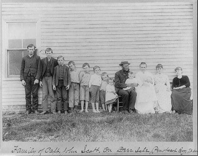 Family of Capt. John Scott, on Deer Isle, Penobscot Bay, Maine