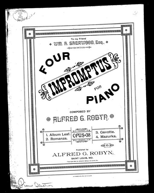 Four impromptus for piano
