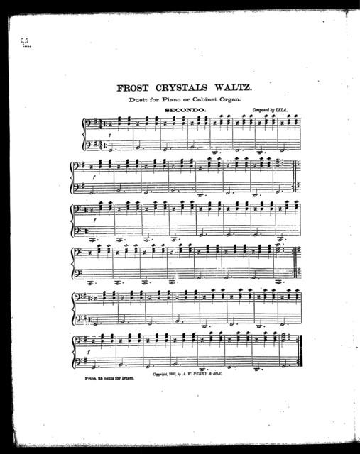 Frost crystals waltz