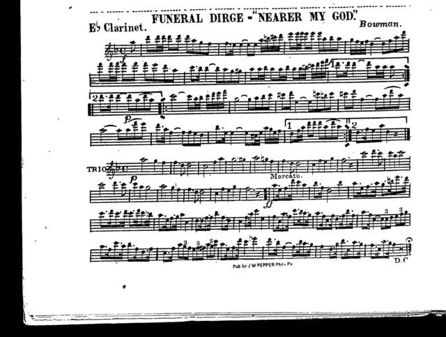 Funeral dirge; Nearer my God