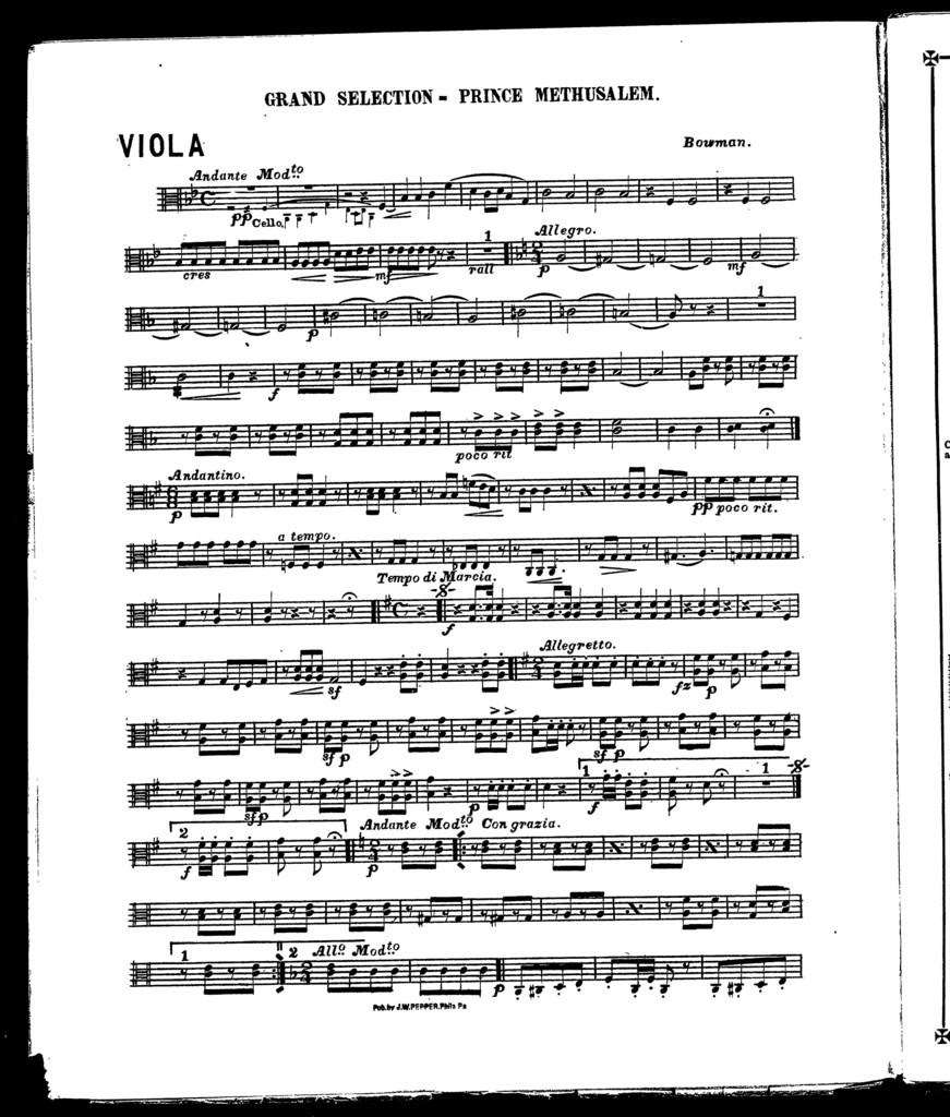 Grand selection; Prince Methusalem [orchestra]