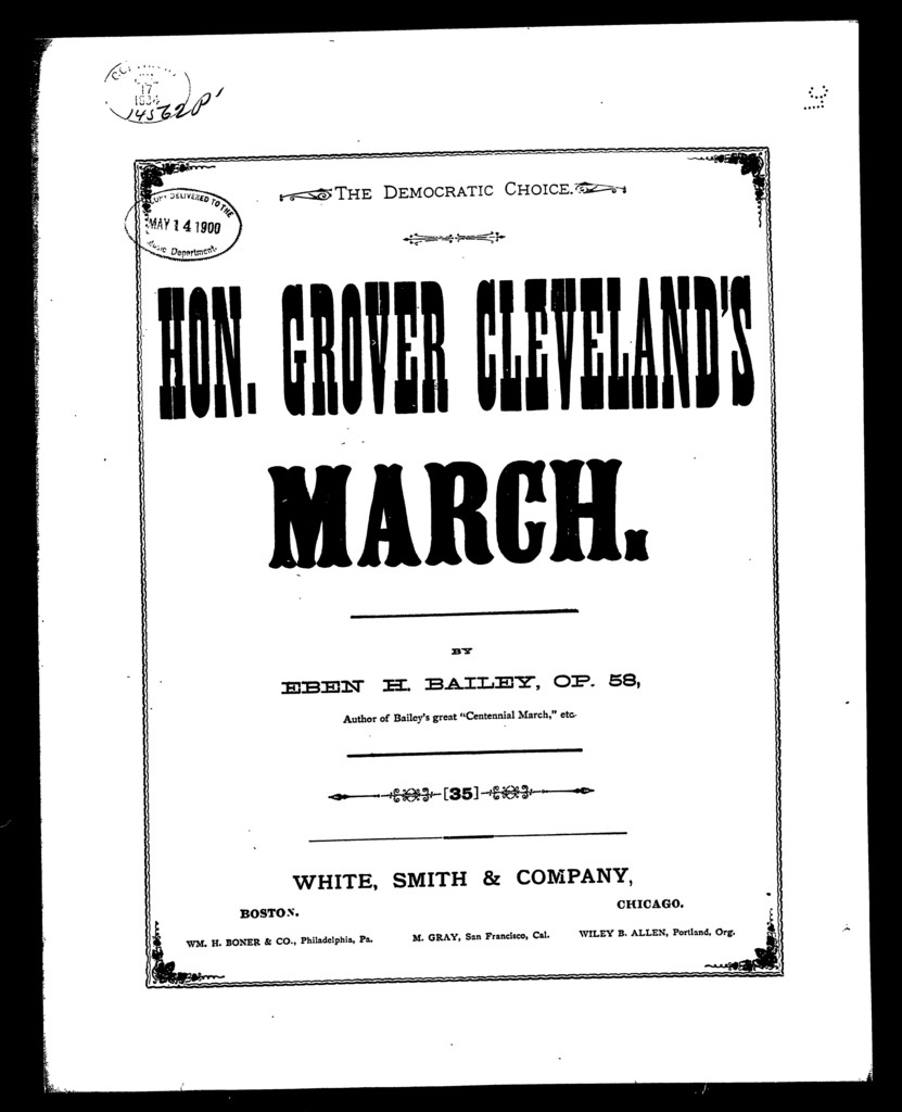 Hon. Grover Cleveland's march