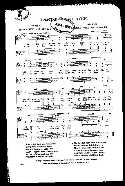 Hospital sunday hymn