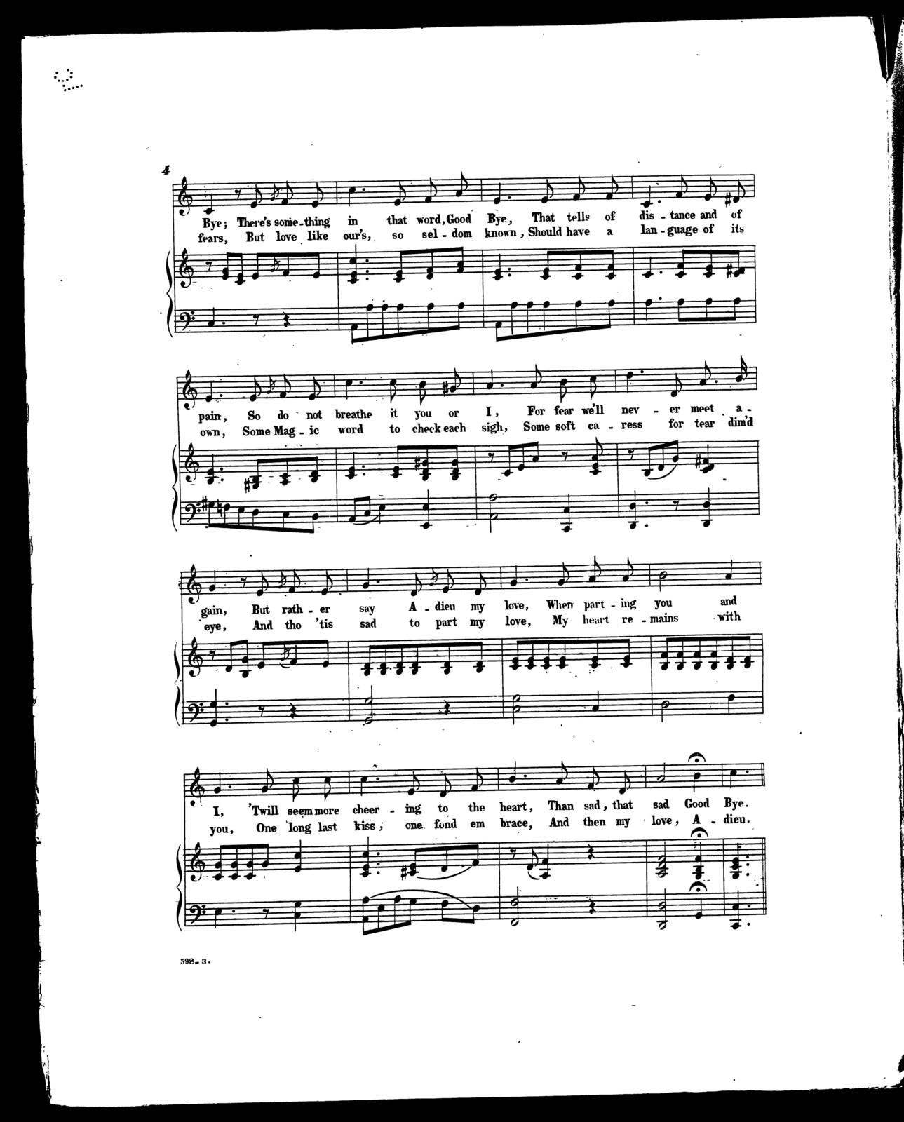 If we must part; Ballad